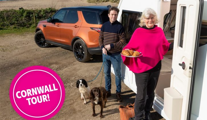 Peter and Claudia's Cornwall tour got off to a shaky start after the sat nav sent them down a road with a height restriction, but they had great weather