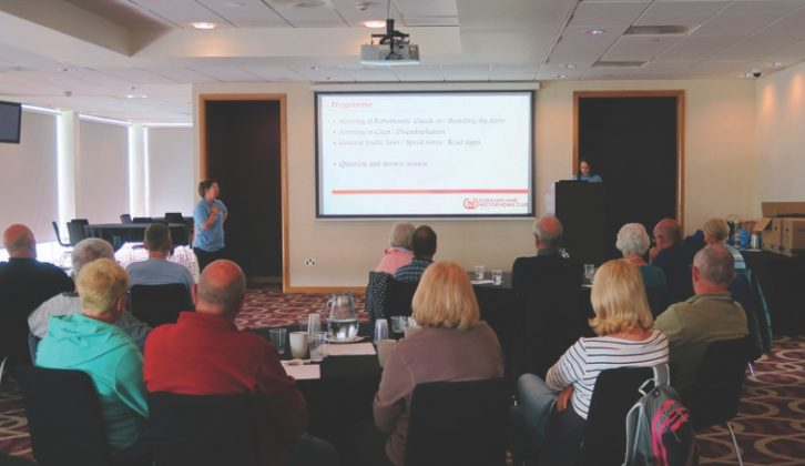 A presentation by the CAMC offers top tips on driving abroad and what you can expect, followed by a quick run-through of the planned itinerary