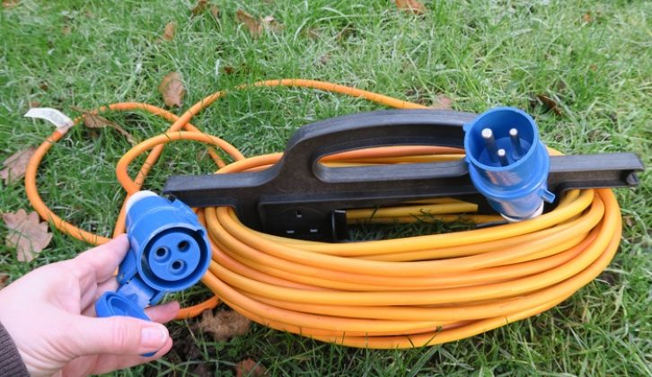 All 25m hook-up cables should have three-pin blue connectors suitable for UK campsites and compliant with BS EN 60309-2