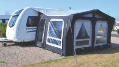 You'll really notice the extra headroom in the Vango Vienna, thanks to the skylight windows