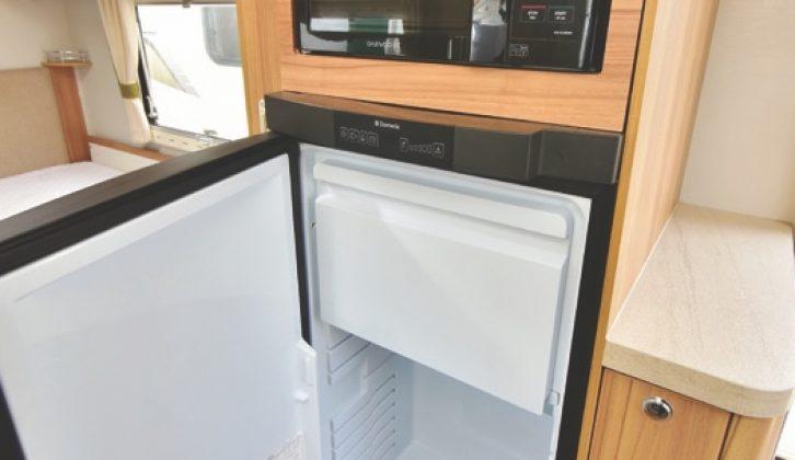 Crusader twin-axles have large fridge/freezers, plus microwave