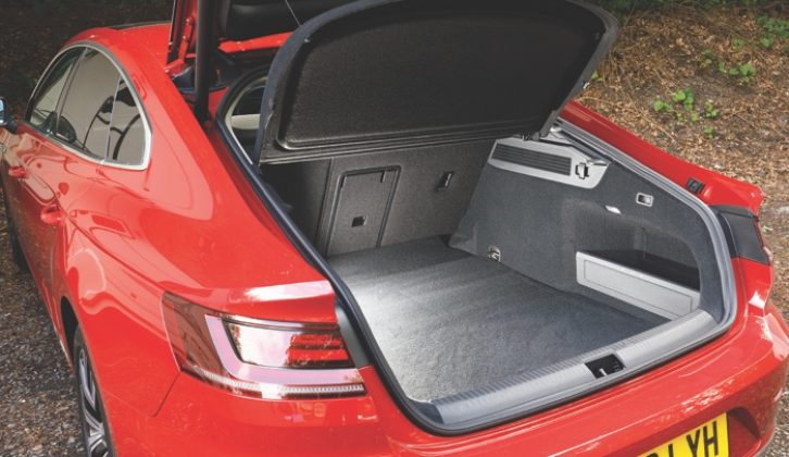 There's lots of luggage space in the boot...