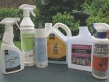 Many of the awning manufacturers sell their own versions of cleaning and waterproofing products