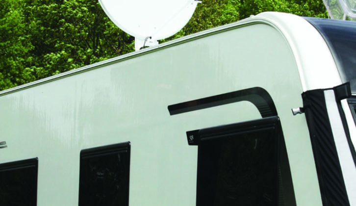 Dish focuses radio waves from satellite on to LNB downconverter, which converts them into TV signal