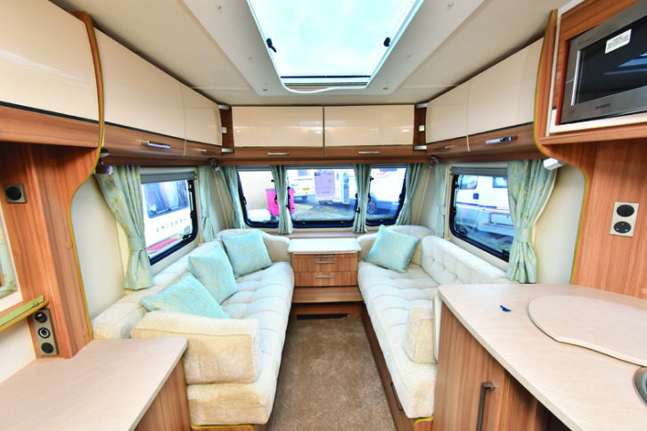Lounge offers space and comfort, plus excellent overhead storage
