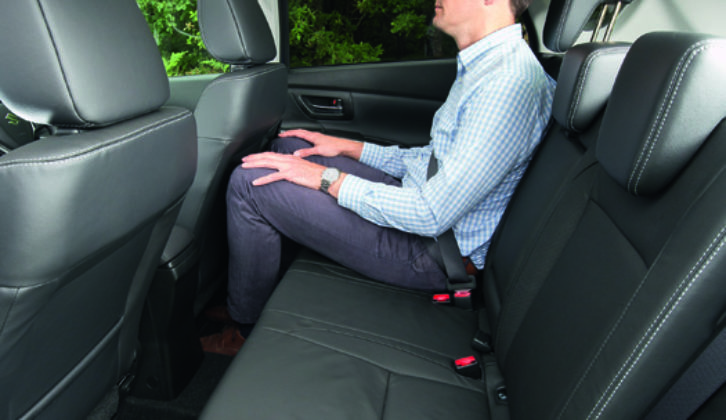 The rear seats are raised, cinema-style