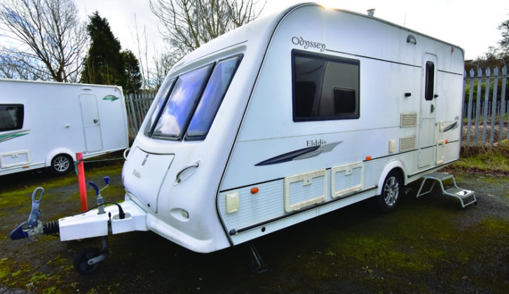 Barbecue point, wet locker and exterior mains socket were all standard on the 2009 Elddis Odyssey