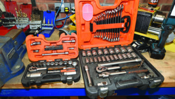 A 3/8-inch drive socket set is a good starter, while a larger 1/2-inch drive set is ideal for touring