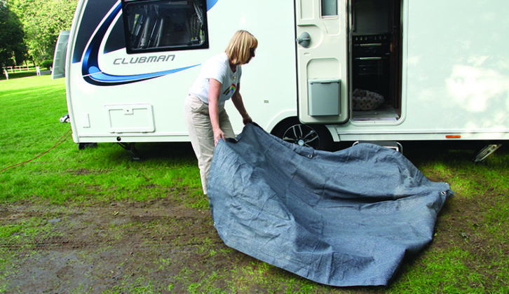 Always try to erect your awning in dry weather