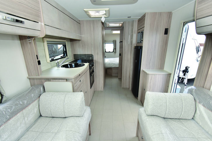 Supreme 860 makes excellent use of its 8ft width, providing plenty of living space