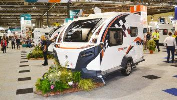 A caravan on show at the NEC